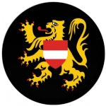 Flemish Brabant Flag 25mm Pin Button Badge
